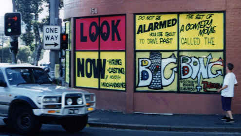 The Big Bong Shop on the corner of Cleveland and Abercrombie Streets Surry Hills Sydney. Picture taken April 1996